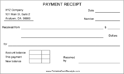 payment coupon book template